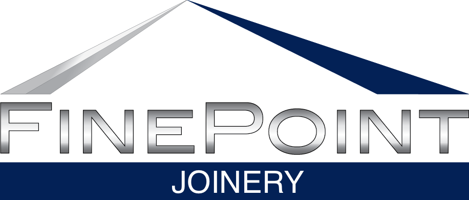 Fine point joinery logo white final