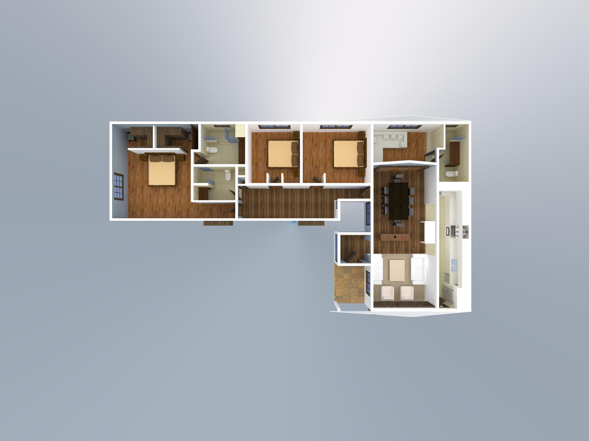 Casa planta