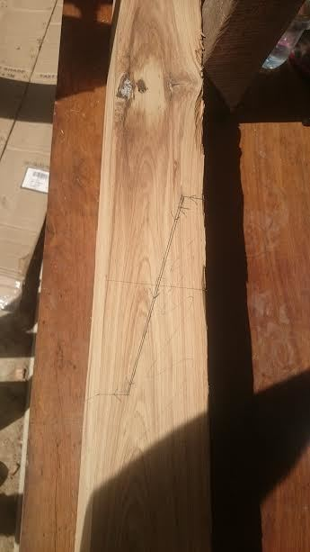 Scarf joint mark out