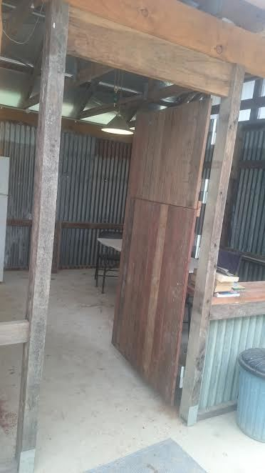Camp kitchen stable door