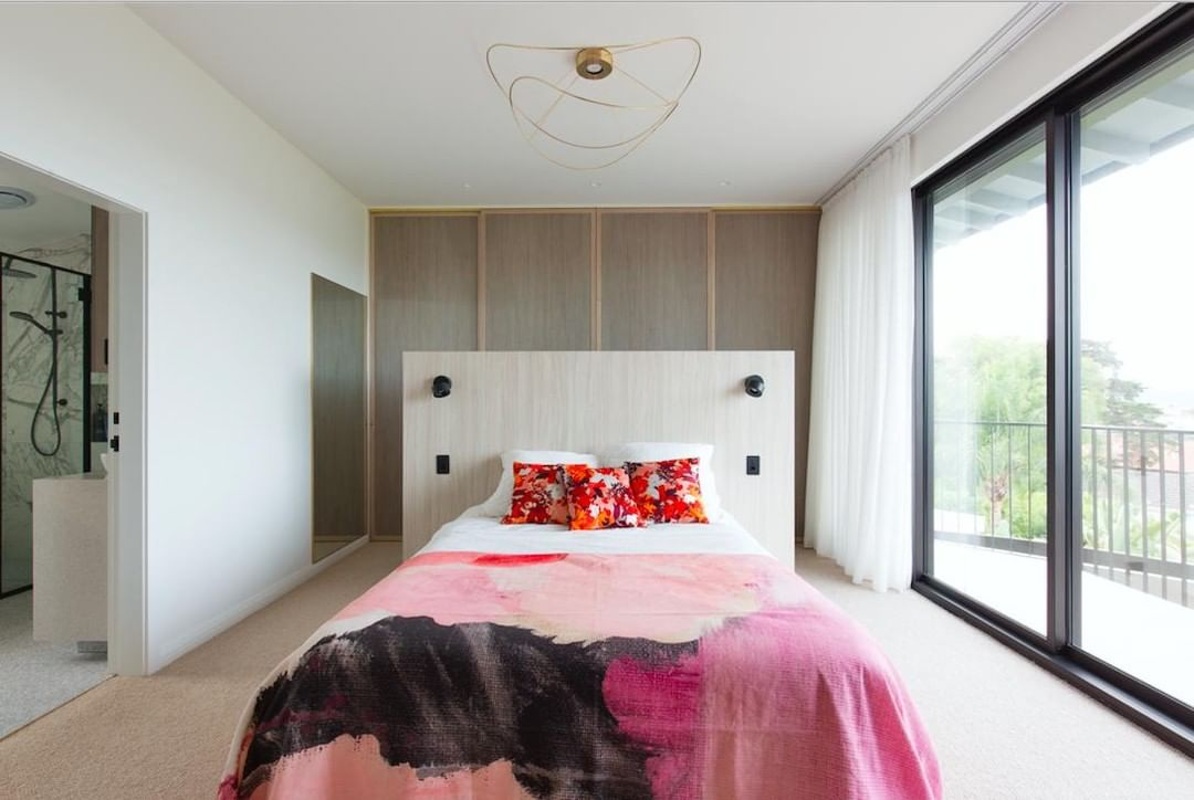 Our bedrooms provide a place of rest and restoration in the midst of our busy lives. While some choose to curate their space with tones to calm and sooth, this client chose colours, textures and lines that energise. ⚡️ With a bed situated at the centre of the room, the energy of this room feels dynamic. #BuildYourDream #AJPconstructions #CLTexpert . . . . #sydneyboutiquebuilder #CLT #renovationadditionspecialist #sydneybuilder #archdaily #australianarchitecture #sydneyarchitecture #crosslaminatedtimber #bedroom #designerbedroom #goals #interiordesign